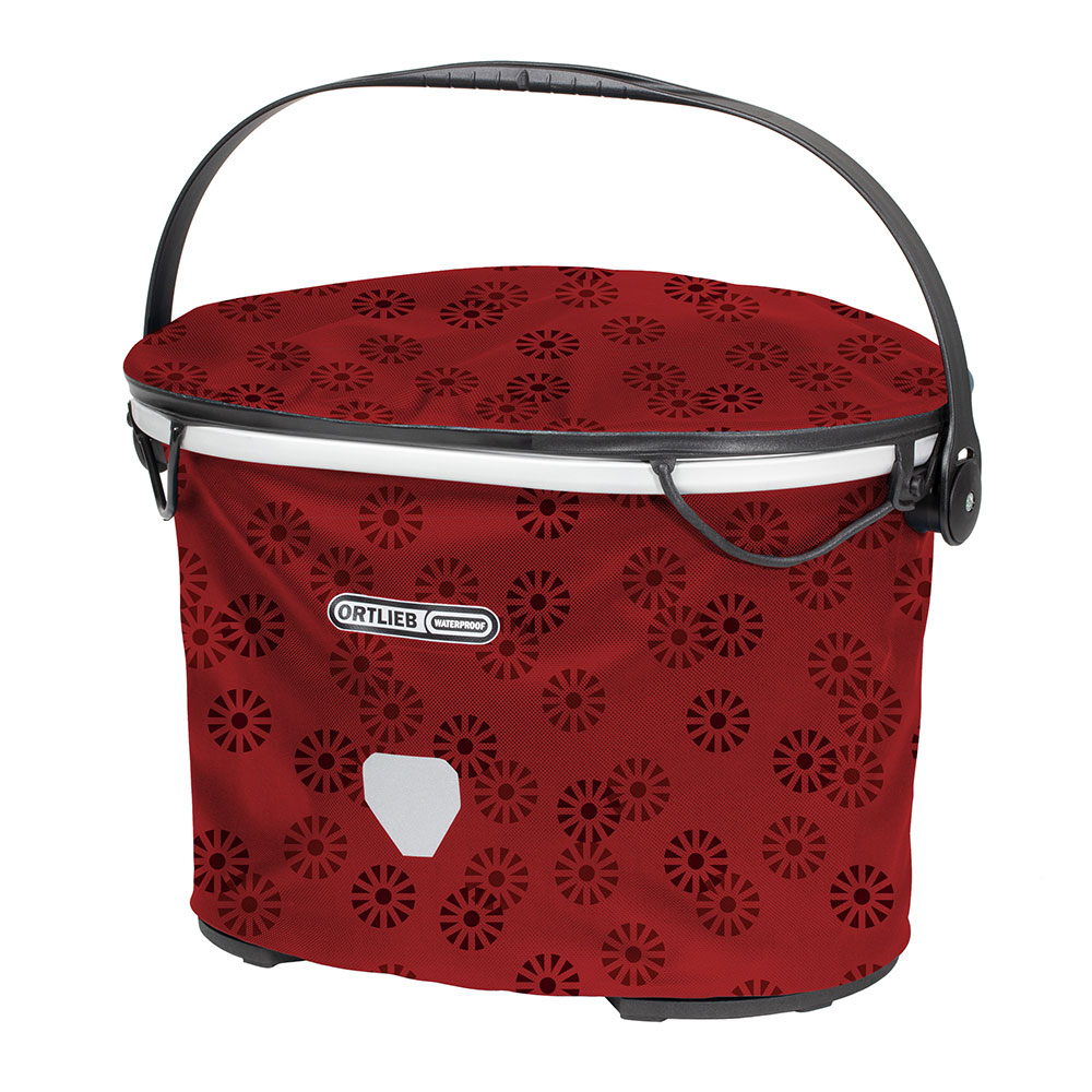 ORTLIEB Up-Town Design - floral - red